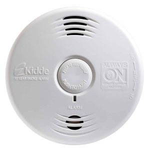 Kidde P3010B Worry-Free Bedroom Photoelectric Smoke Alarm