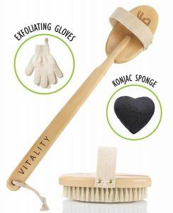 Best Body Brush Exfoliation System for Dry Skin Brushing