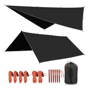 REDCAMP Waterproof Tarp Shelter - Lightweight and Compact