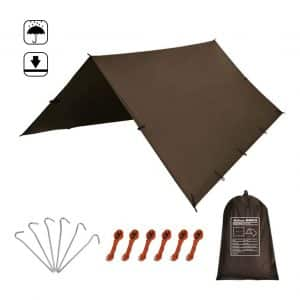KALINCO Tent Tarp with a Waterproof Design (Coffee)