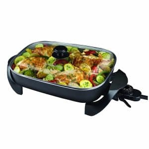 Black & Decker Family Sized SK1215BC Electric Skillet, Black