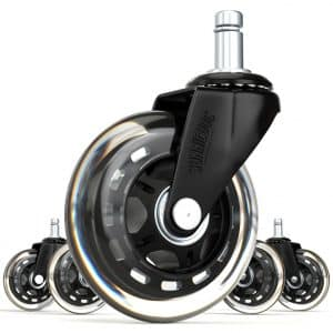 SunnieDog Office Rollerblade Style Office Caster Wheel