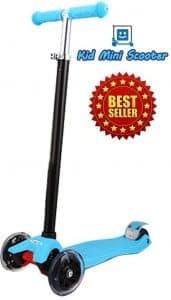 Kid Mini Scooter™ with LED Light Up Wheels, Adjustable Handle Bar