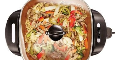 BELLA 1200 Watts Electric Skillet, with Copper Titanium Coating