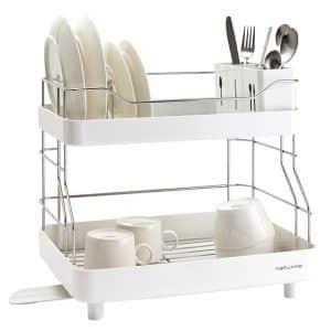 Naturnic Cube 2 - Tier Kitchen Sink ware Dish Rack