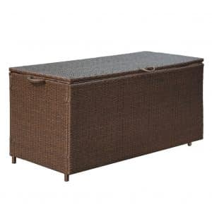 PatioPost Deck Box, PE Wicker for Outdoor Patio