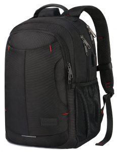 Mancro 1-Gray BackpackBag with USB Charging Port