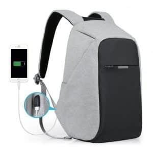 oscaurt Anti-Theft Travel Business Laptop Backpack-Grey