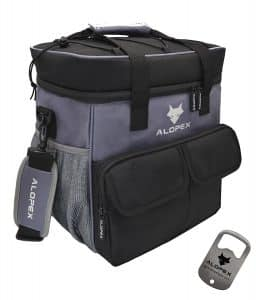 ALOPEX 24-Can Cooler Bag Insulated Outdoor Lunch Bag