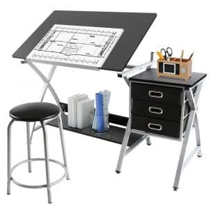 Yaheetech 45-Degree Adjustable Drafting Table