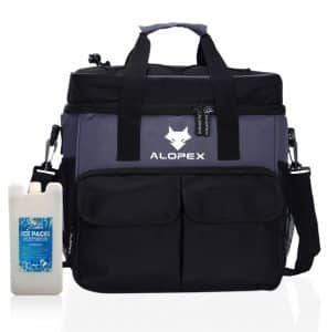 ALOPEX Cooler Bag with External Pockets