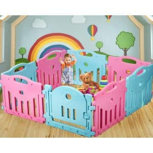 Baby Playpen for Kids; 14 Panel Safety Play Center