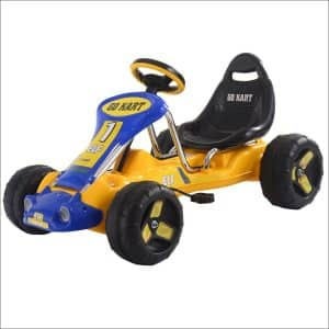 Costzon Yellow-Blacks Go Kart 4-Wheel Pedal Car