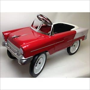 55 Classic in Red and White Pedal Car