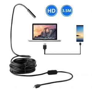 BlueFire Upgraded USB Borescope Semi-Rigid Endoscope Inspection Camera