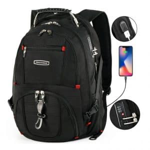 Cross Gear TSA 17.3 Inch Laptops Backpack with USB Charging Port