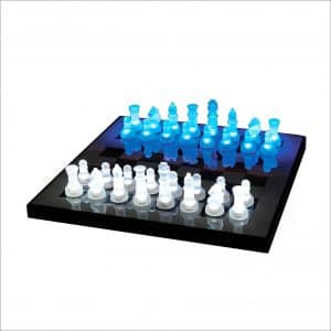 LumiSource SUP-LEDCHES-BW LED Lightened Glow Chess Set
