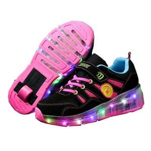 Ufatansy CPS LED Fashion Sneakers Roller Shoes Wheels