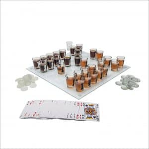 Maxam SPCHESS2 3-in-1 Shot Glass Chess Set
