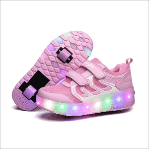 Chic Sources Boys Girls Light Up Roller Shoes with two Wheels