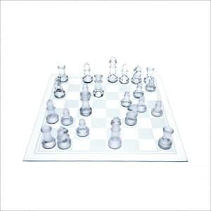 Gamie TM Glass Chess Set