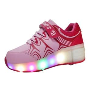 VMATE PU Boy Girl LED Light Roller Single Shoe Wheel