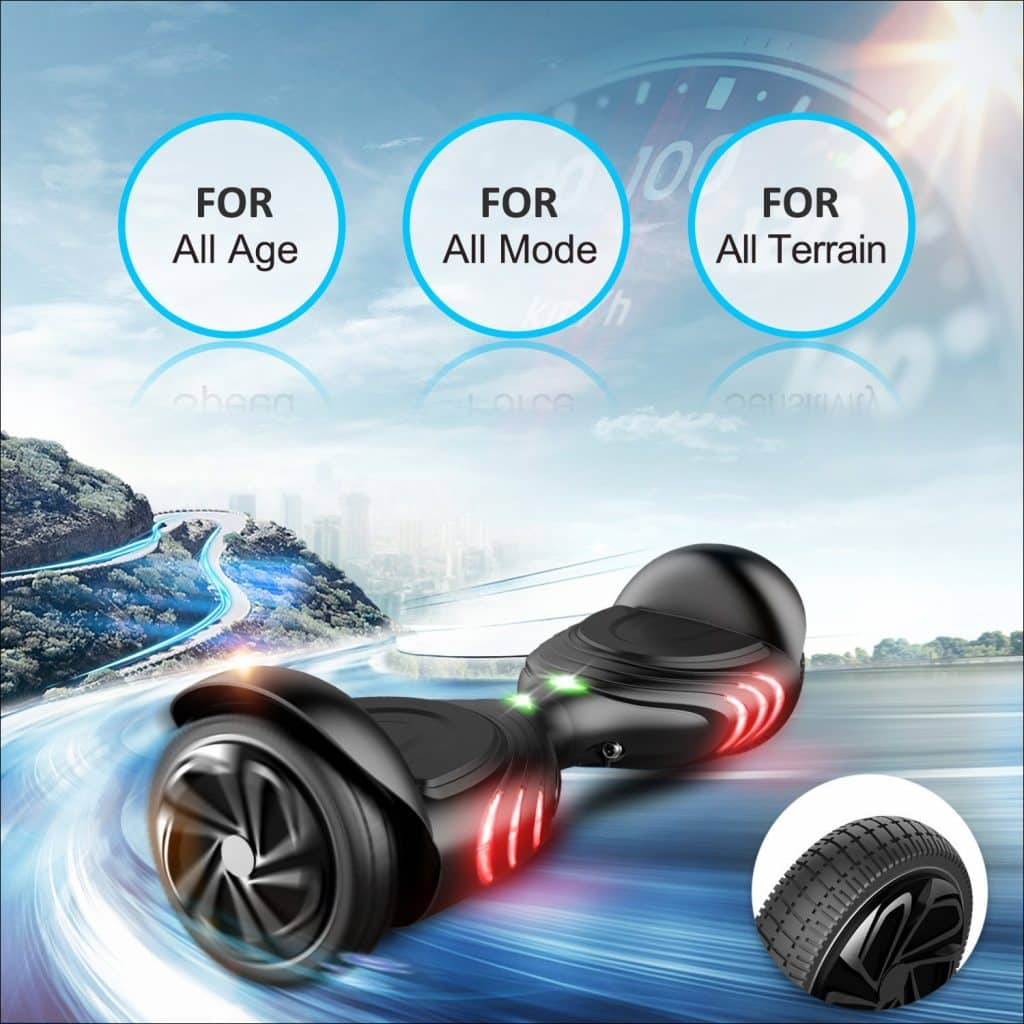 TOMOLOO Self Balancing Scooter Electric Hoverboard