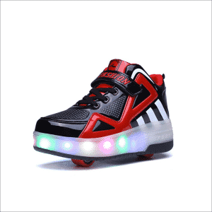 Uforme Kids Boys Girls High-Top Shoes Single Wheel Double Wheel Roller Skate Shoes