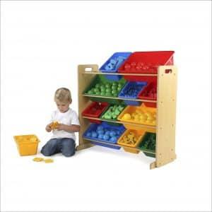 Tot Tutors Kids' Toy Storage Organizers with 12 Plastic Bins
