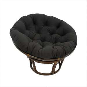 Blazing Needles Solid Twill Papasan Chair
