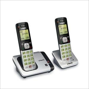 VTech CS6719-2 DECT 6.0 Phone Caller ID/Call Waiting, with 2 Cordless Handsets, Silver and Black