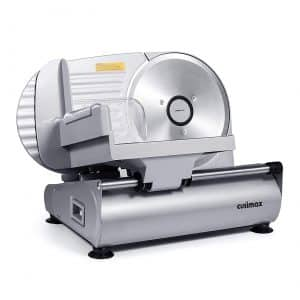 "CUSIMAX 7.5"" Stainless Steel Electric Food and Meat Slicer"