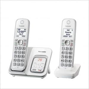 Panasonic KX-TGD532W Expandable Cordless Phone with Answering Machine and Call Block