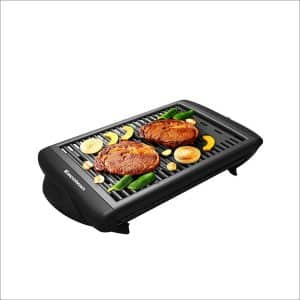Excelvan Indoor Electric Classy Plate Barbecue Grill Clean