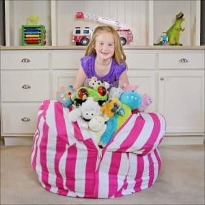 Extra Large Stuff and Sit Stuffed Animal Storage Bean Bag Cover