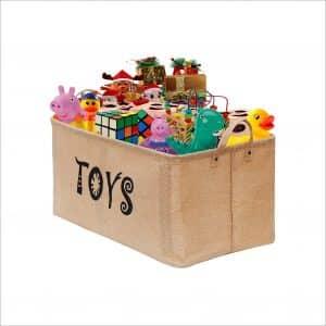 Gimars Newest Well-Standing Toy Chest Baskets Storage Bins