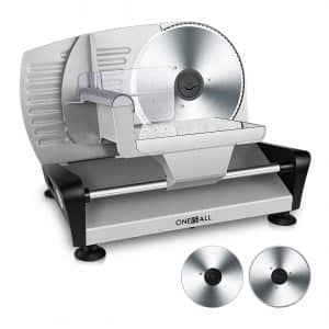 Oneisall 2 Blade x 150W Electric Food Deli Slicers
