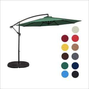 Sundale Aluminum Offset Patio Outdoor 10 Feet Umbrella