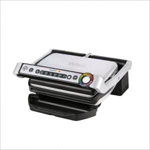 T-fall OptiGrill GC702 Stainless Steel Indoor Electric Grill