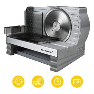 Techwood Removable Stainless Steel Electric Food and Meat Slicer