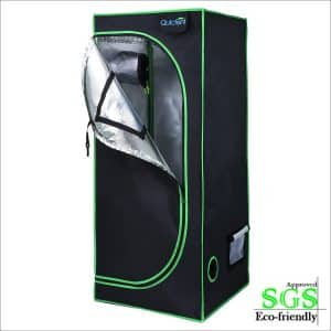"Quictent SGS Eco-friendly 24""x24""x55"" Reflective Mylar Hydroponic Grow Tent"