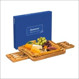 Castelencia Extra-Large 8-Piece Bamboo Cheese Board