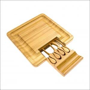 Intriom 4-Piece Glossy Bamboo Cheese Board