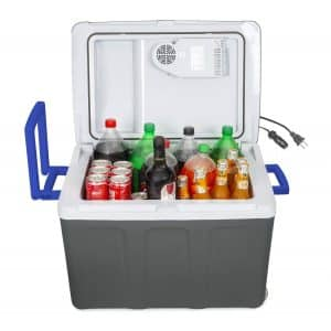 K-box Electric Cooler & Warmer with Wheels (Grey White Blue)