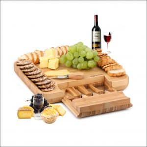 Dragonn 4-Tool 100% Natural Bamboo Cheese Board