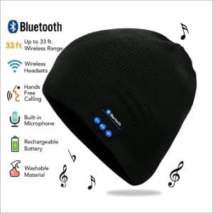 HIGHEVER Bluetooth Beanie Built-in Stereo Speakers