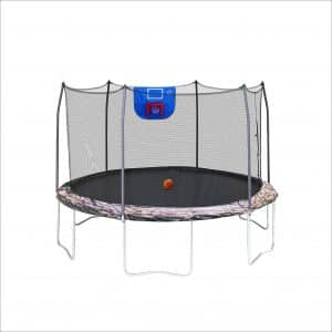 Skywalker 12ft Trampoline Jump N' Dunk Trampoline with Security Enclosure