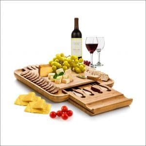 Sakranco 100% Natural Bamboo Cheese Board