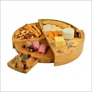Picnic At Ascot Vienna 3-Piece Bamboo Cheese Board