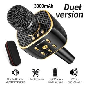 Hmovie 3300mAh Dual Sing Duet Wireless Karaoke Microphone Speaker